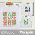 monomoni(モノモニ)|Tシャツ|幾何学っぽいポップでカラフルなマカロン♪カラーのネーミングまで美味しそう!